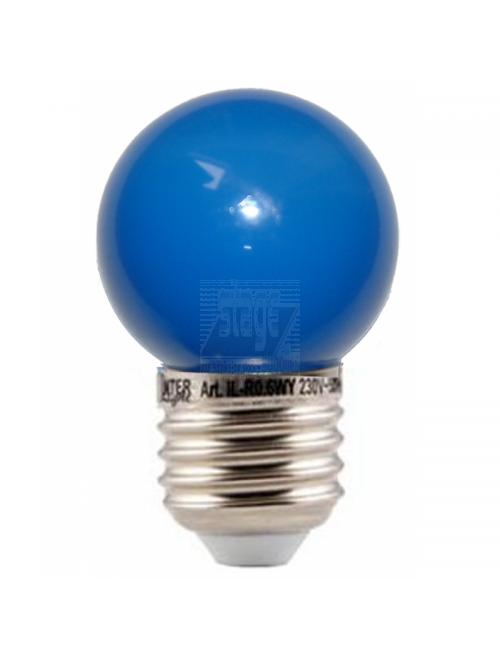 LED kogellamp, blauw