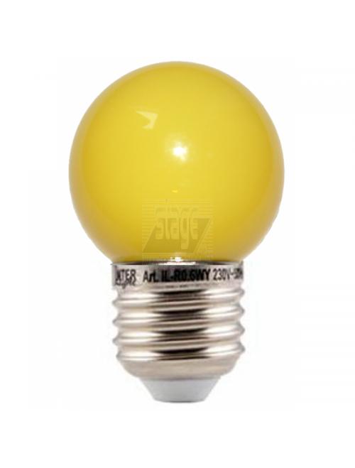 LED kogellamp, geel