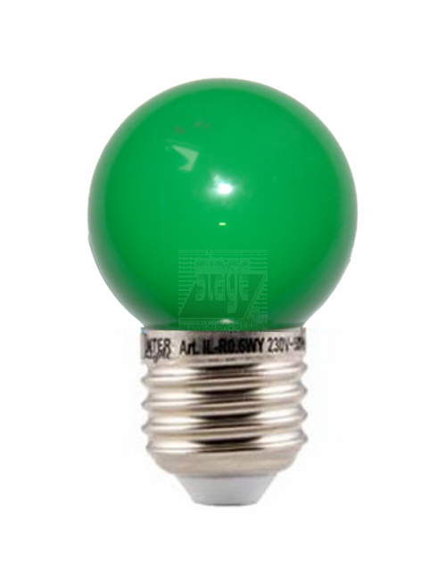 LED kogellamp, groen