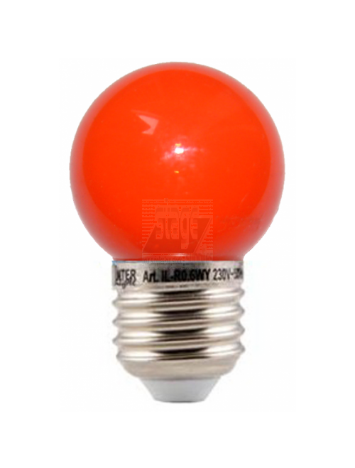 LED kogellamp, rood