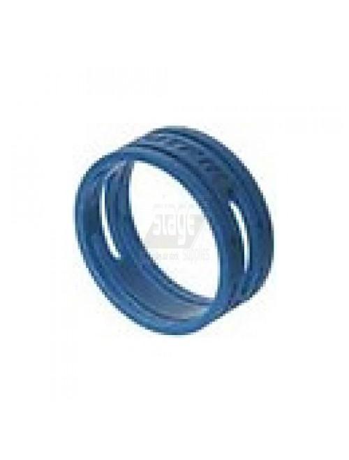 XLR kleurring, blauw